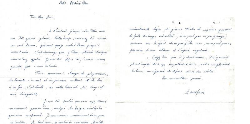 Le grand enthousiasme d`un français de la réponse que l`Imam Khomeiny  a donné à sa lettre