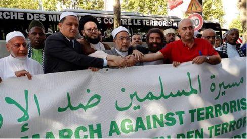 Paris : La marche des musulmans contre le terrorisme