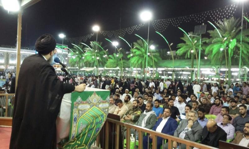 La cérémonie de deuil pour commémorer l`Imam Khomeini à Karbala