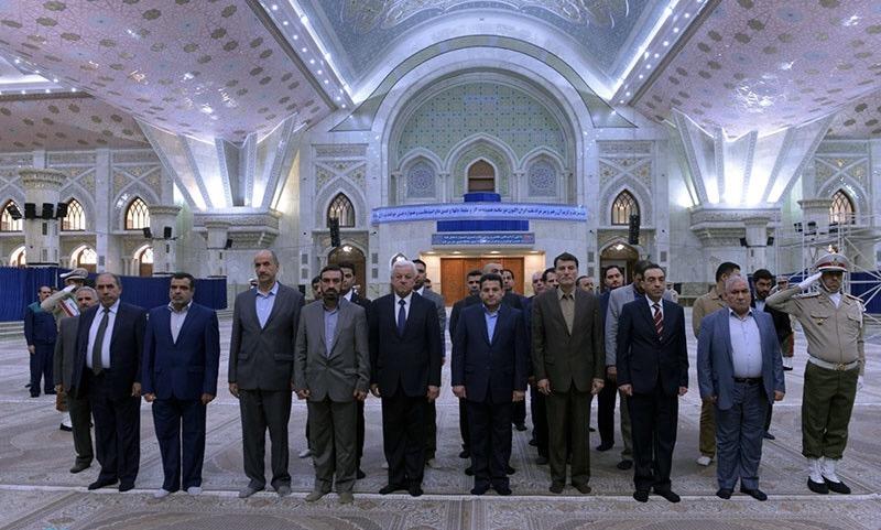 Hommage rendu par le ministre irakien de l`Intérieur au statut éminent de l`Imam Khomeiny (Que DIEU sanctifie son noble secret)