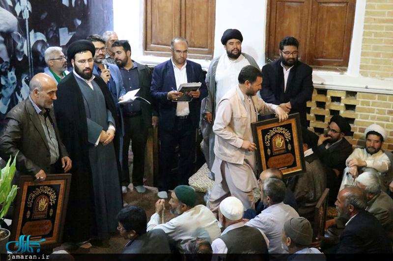 Cérémonie de reconnaissance en l`honneur de la délégation religieuse afghane vivant à Qom à la maison historique de l`Imam (Que DIEU sanctifie son noble secret) avec la présence de Seyed Ali Khomeiny.