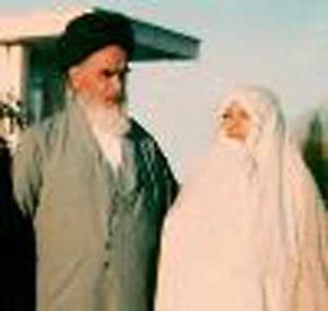 Lettre envoyé de l`Imam Khomeini à son honorable épouse