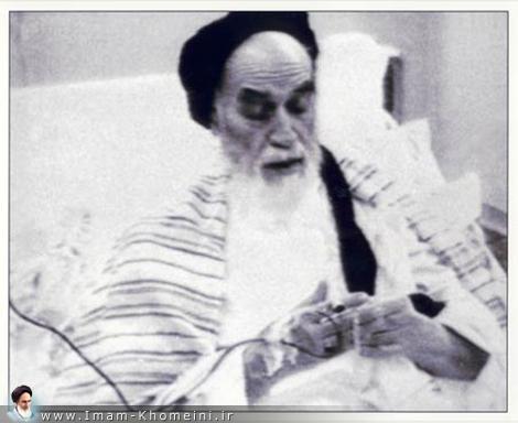 L`Imam Khomeini à l`hôpital de Cardiologie de Jamaran.