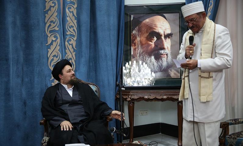 Rencontre d`une délégation de députes des religions divines avec Seyyed Hassan Khomeini
