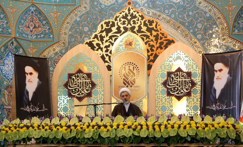 La cérémonie de la commémoration de l`Imam Khomeini de la part du beureu du guide suprême à Qom