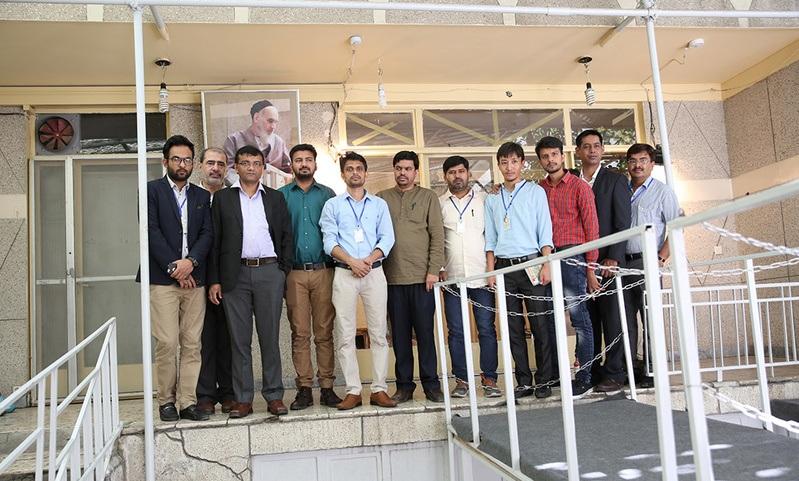 Les journalistes indiens à la maison de l`Imam Khomeini