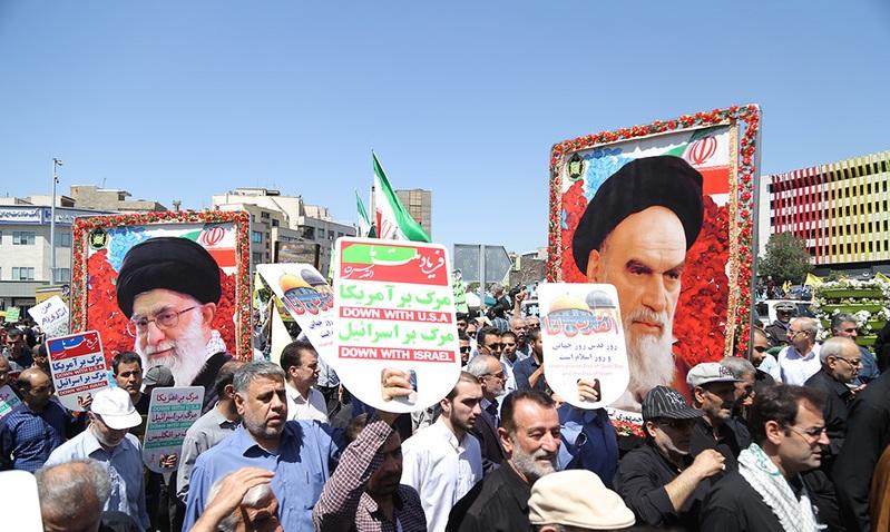 La marche magnifique de la journée de Qods
