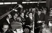 L`Imam Khomeini et les journalistes étrangers