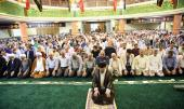 La prière de l`Aïd al-Fitr à Jamaran