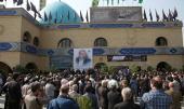 Les funérailles du célèbre animateur télé iranien, Bahram Shafi, l'un des proches de Sayyide Ahmad Khomeiny