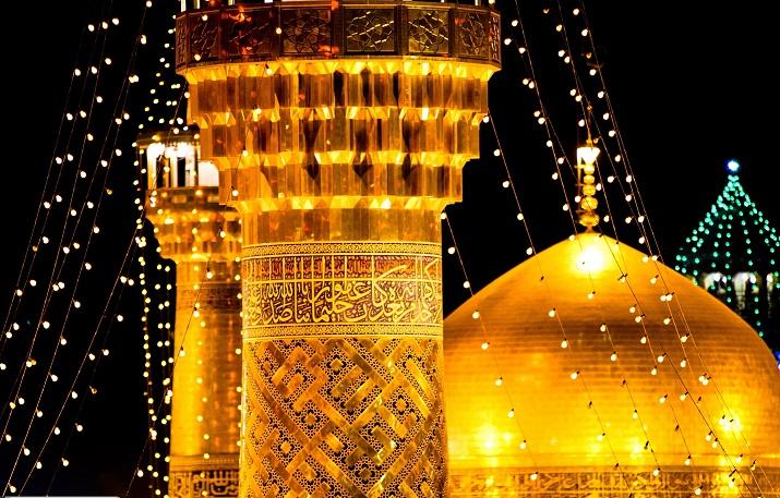 Les raraes photos du noble mausolée de l`Imam Reza