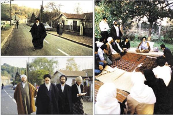 L'émigration de l'Imam Khomeiny de l'Irak à Paris