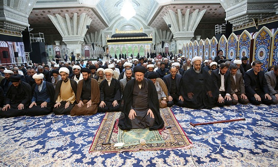 La cérémonie de commémoration du martyre de l'Imam Sajad (as) dans le saint mausolée de l'imam Khomeiny (paix à son âme)