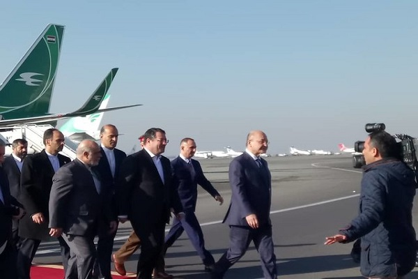 Arrivée du président irakien à Téhéran