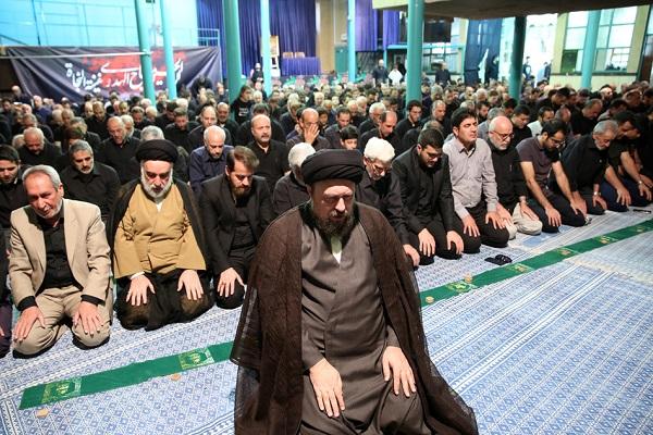 Cérémonie de deuil d'Achoura dans le Hosseinieh de l'imam Khomeini