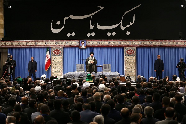 Rencontre du cortège irakien avec le Guide suprême
