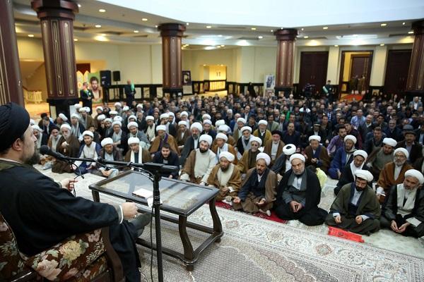 Rencontre d'un groupe d`afghans avec Sayed Hassan Khomeini.