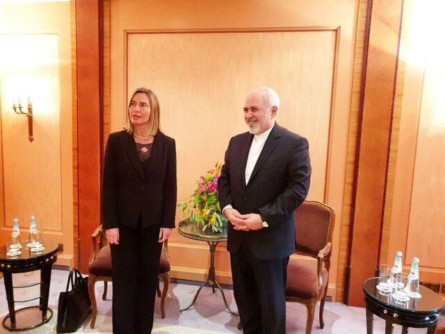 Rencontre de Mogherini avec Zarif à Munich