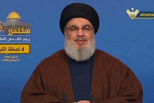 Nasrallah : Les Palestiniens doivent rejeter unanimement le Deal du siècle