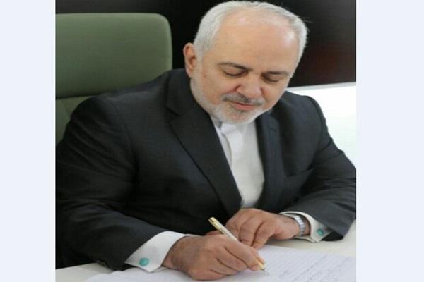 Message de Zarif à son homologue libanais sur les actions hostiles de Washington contre Téhéran