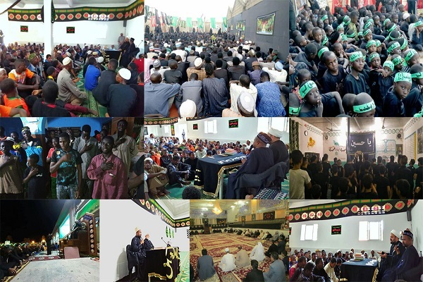 Commémoration du martyre de l'imam Hussein (as) dans 13 pays