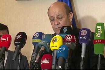 Le ministre des Affaires étrangères français au sanctuaire sacré de l`Imam Ali! + vidéo