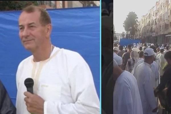 Un britannique et une française se convertissent à l'Islam lors de la prière de l'Aid Al-Adha