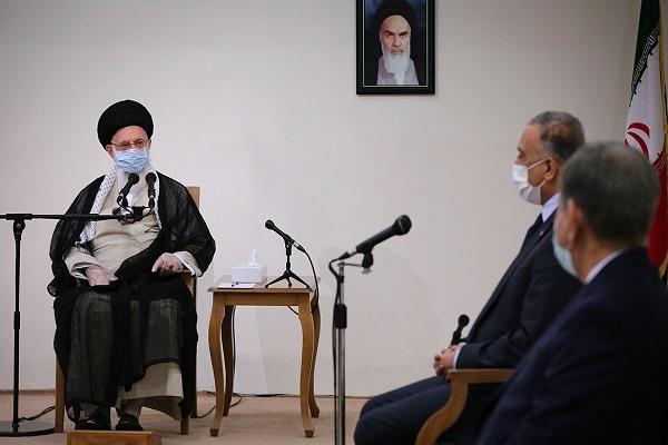 La rencontre du Guide suprême de la révolution islamique avec le premier ministre d`Irak