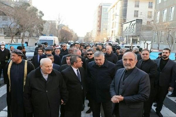 Des diplomates étrangers aux funérailles du général Soleimani