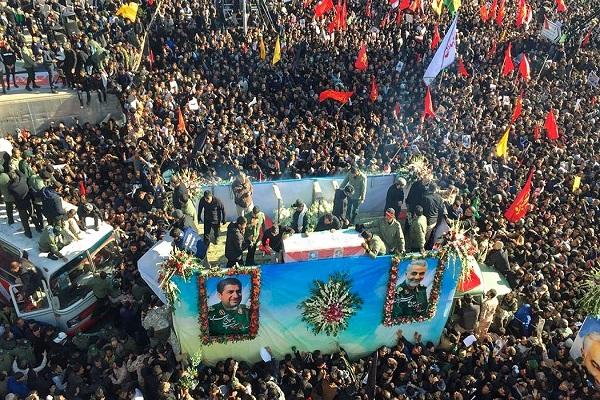 Le corps du général Soleimani inhumé au cimetière des Martyrs de Kerman