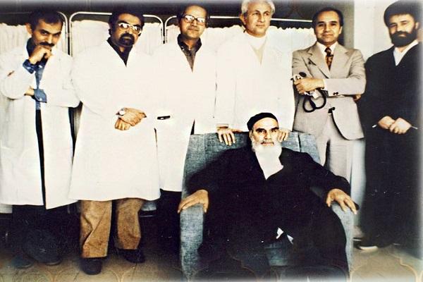 La rencontre de l`Imam Khomeini avec les infirmières