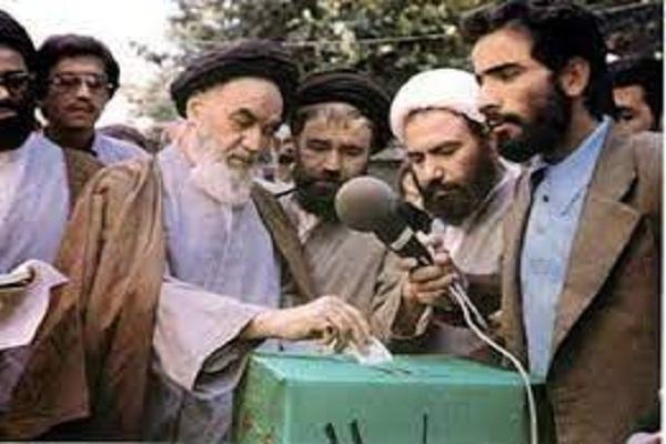La participation de l'imam Khomeini (ra)  aux élections