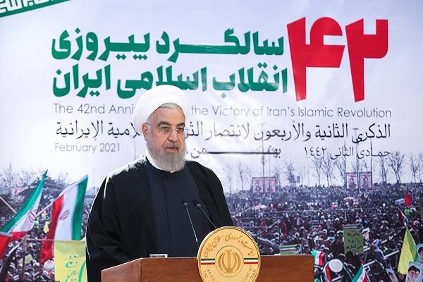 Discours du président Rohani à l`occasion du 22 Bahman