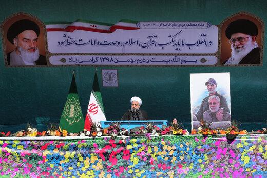 Discours du Président Rohani à l'occasion du 42e anniversaire de la victoire de la Révolution islamique
