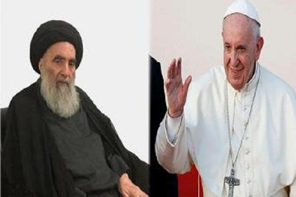 Le pape François et l`ayatollah Sistani signent un pacte de fraternité humaine