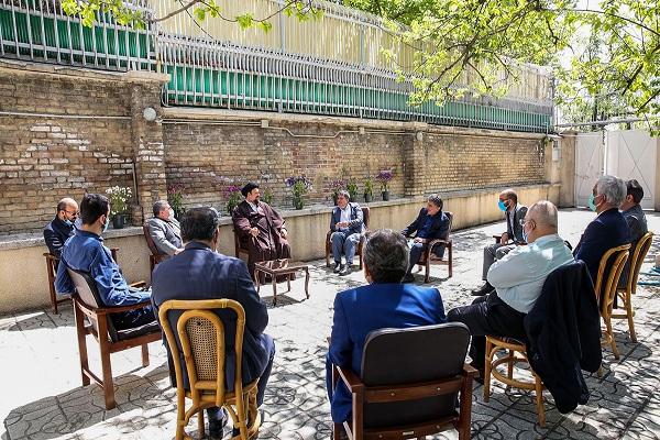 Rencontre du Secrétaire Général et des membres du Conseil Central du Parti National Trust avec Seyyed Hassan Khomeini