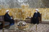 Rencontre du chef de l`Institut pour l`organisation et la publication des œuvres de l`Imam Khomeini (PSL) avec Astan Quds Razavi (Sanctuaire de l`Imam Reza (AS))