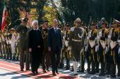 Le président iranien et le président irakien