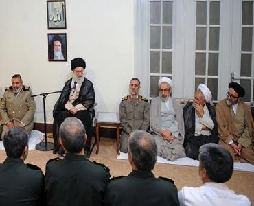 رہبر معظم سے ہفتہ دفاع کی مناسبت سے اعلیٰ فوجی کمانڈروں کی ملاقات
