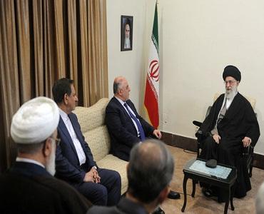 عراقی وزیر اعظم حیدر العبادی کی رہبر معظم انقلاب سے ملاقات