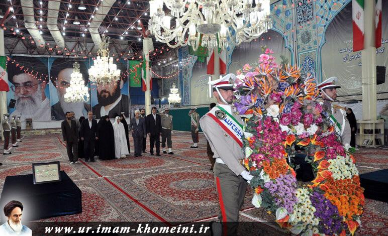 جمیلہ بوپاشا الجیریا کے انقلابی خاتون کا حرم امام میں امام خمینی(رہ) کو خراج عقیدت