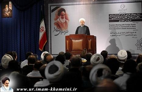 صدر مملکت، ڈاکٹر حسن روحانی: امام خمینی(رہ) کی راہ پرچلنا قابل فخر
