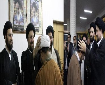 امام خمینی یونیورسٹی کراچی کے طلاب سید حسن خمینی کی موجودگی میں معمم ہوئے/ علماسخت آزمائش میں مبتلا ہیں: سید یاسر خمینی