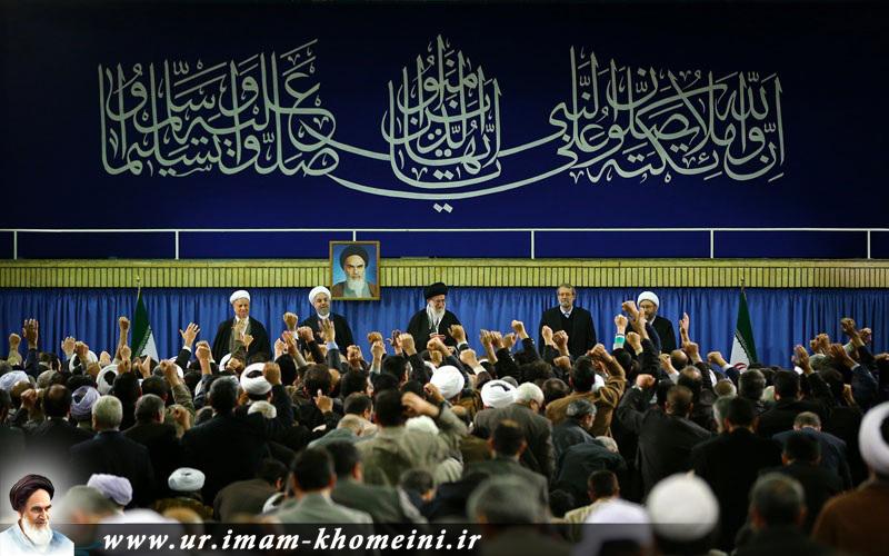 اسلامی ممالک کے سفرا، ہفتہ وحدت اسلامی کانفرنس میں شریک علما اور دانشوروں کی رہبر معظم سے ملاقات