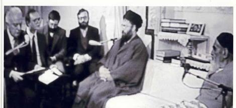 غیر ملکی سفیروں کے ساته امام خمینی (ره) کی ملاقات