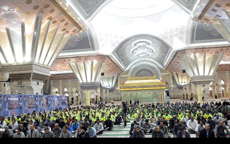 """حرم امام خمینی(رح) میں """"محفل انس با قرآن"""" کا انعقاد"""
