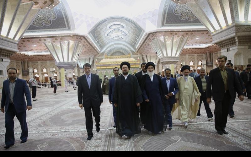 اراکین مجلس خبرگان رہبری کی حرم امام خمینی(رح) میں حاضری اور تجدید عہد