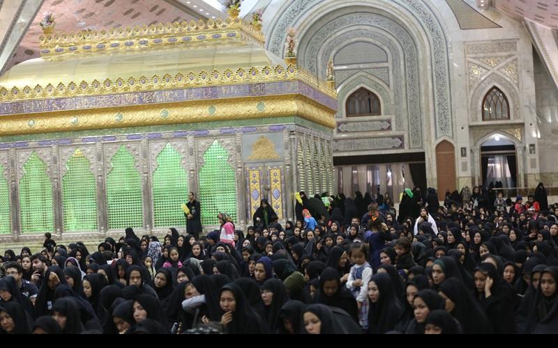 شب تاسوعائے حسینی(ع), حرم امام خمینی(رح) میں