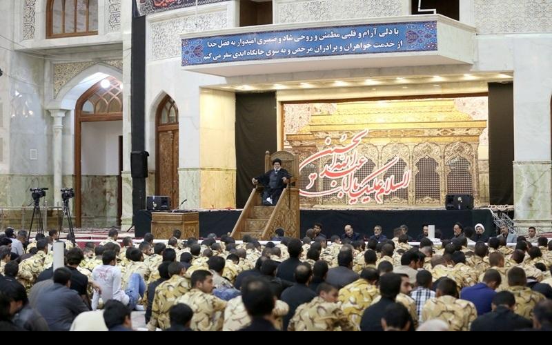 عزاداری اور نماز ظہر عاشور، حرم امام خمینی(رح) میں / شب عاشور حرم امام خمینی(رح) میں