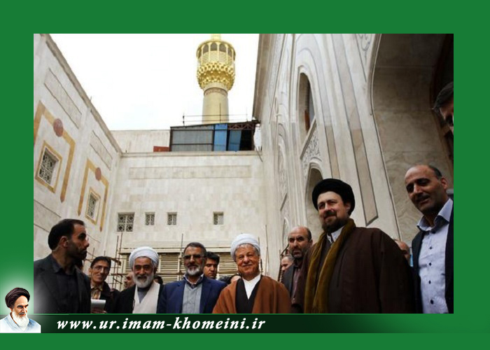 آیت اللہ ہاشمی نے امام خمینی(رح) کے مزار کی ترقیاتی منصوبہ بندی کا دورہ کیا
